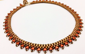 Egyptian Collar - Beadwork Necklace Kit with Kheops Par Puca and SuperDuo Beads (Warm Golds)